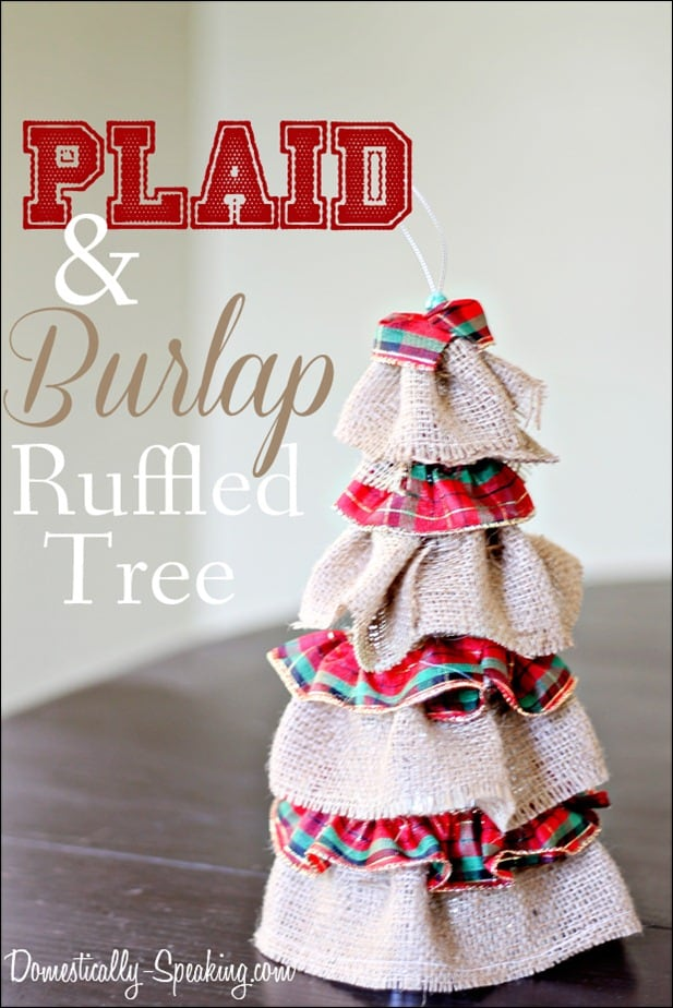 Christmas Plaid and Burlap Ruffled Goodness