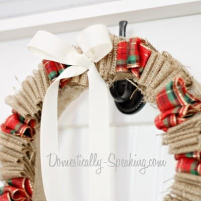 Burlap & Plaid Wreath