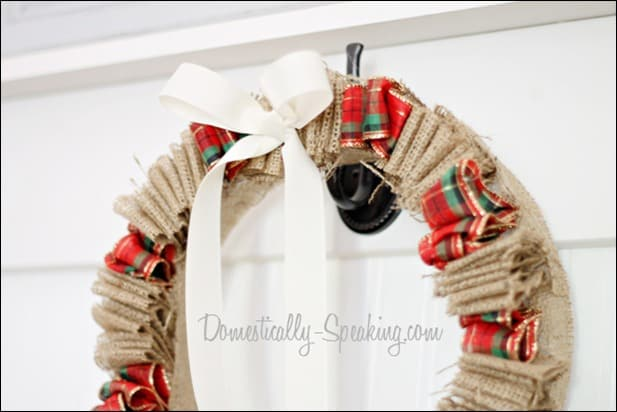 Christmas Plaid & Burlap Wreath