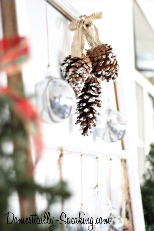Faux Winter Window Mantel