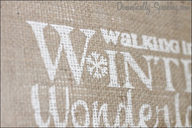 Walking in a Winter Wonderland Burlap Painted Sign