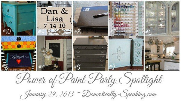 Lots of great paint projects being featured!