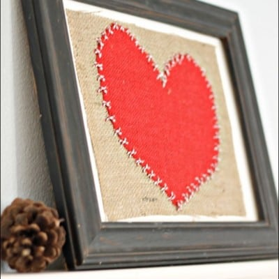 Burlap and Baker's Twine Heart