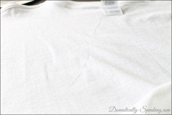 Domestically Speaking: No Sew Ruffled T-shirt Scarf Tutorial