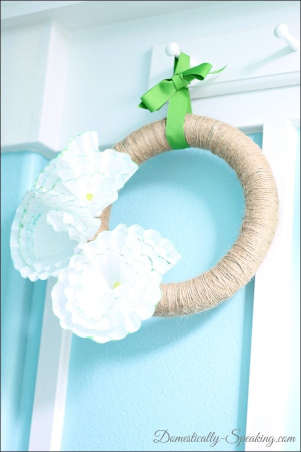 Domestically Speaking: Coffee Filter and Twine Wreath