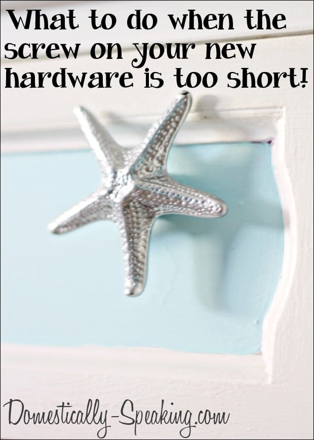 Domestically Speaking.com: Is your screw too short?