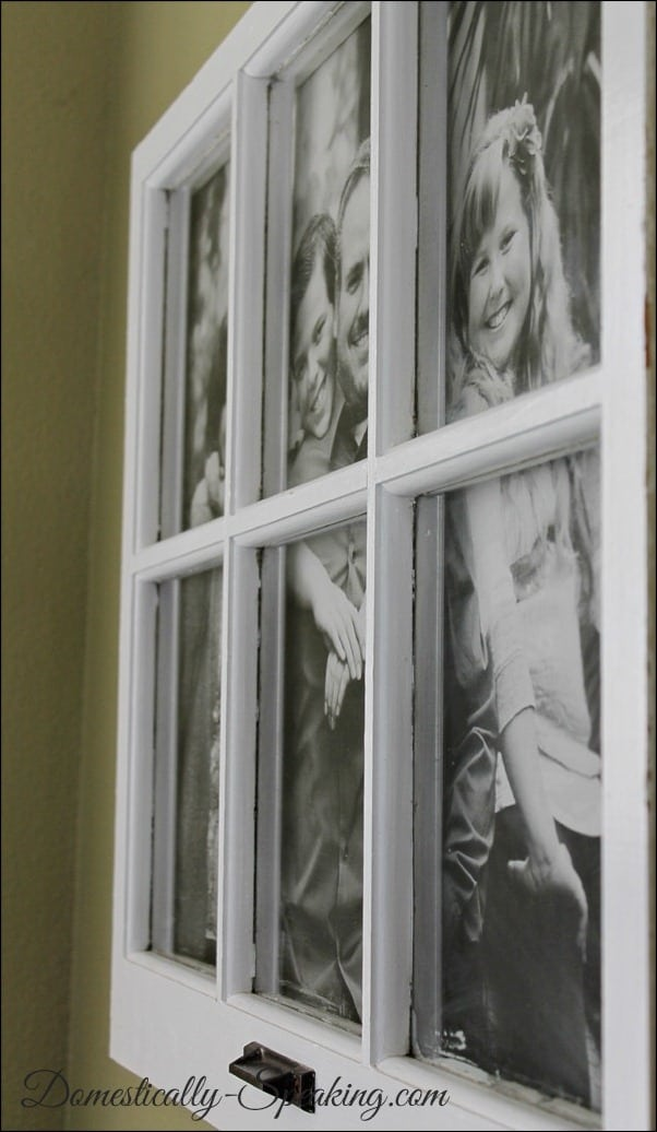 $5 Photo Display with an old Window
