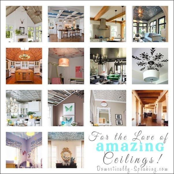 ceilings, tin, wallpaper, paint, wood, coffer, beadboard, plank