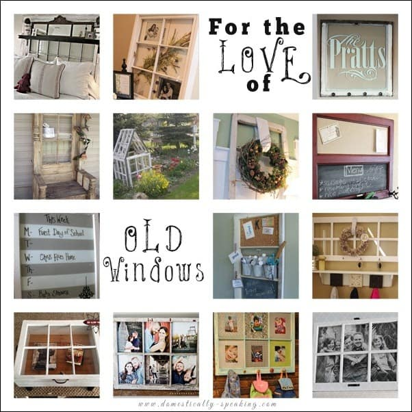 Old Windows - tons of great DIY projects using old windows.  Some great decor ideas for your home.