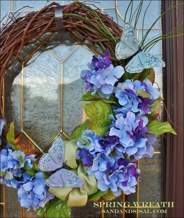 spring, wreath, butterfly