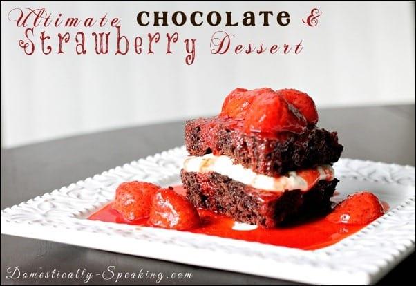 chocolate, cake, strawberries, cream cheese, cool whip, valentine's