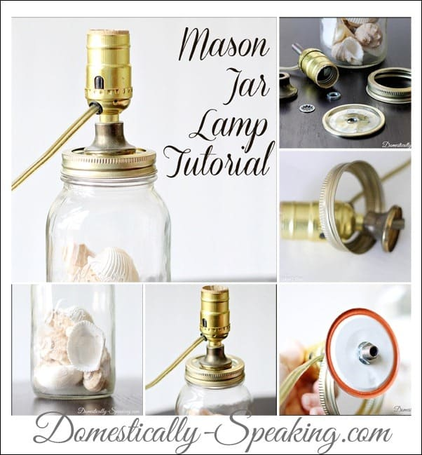 Mason Jar Lamp Tutorial an easy DIY project