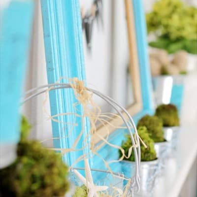 Spring Mantel: Countdown to Spring Party