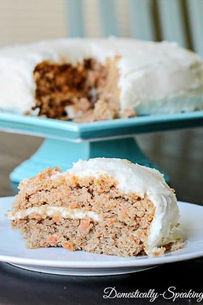 Carrot Spice Cake with Greek Yogurt