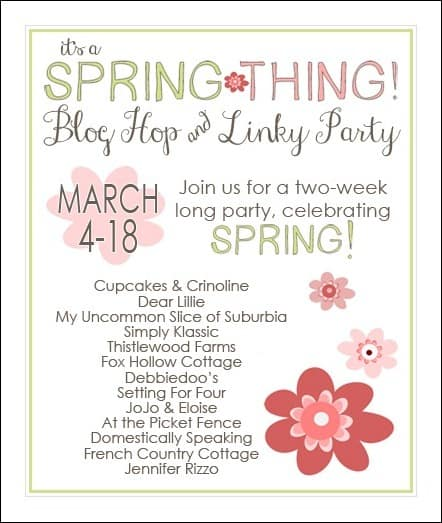 spring, blog hop, linky party