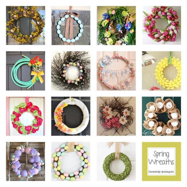 wreaths, spring, easter, burlap, moss, yarn, party