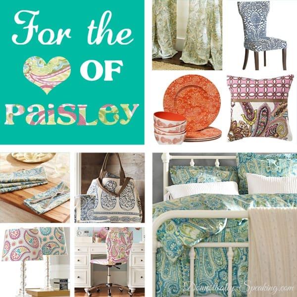 spring, summer, trend, paisley, furniture, bedding