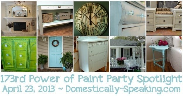 Power of Paint Party Spotlight @ Domestically-Speaking.com