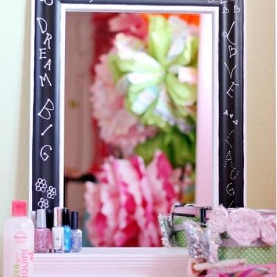 Chalkboard Mirror {Wayfair Blogger Challenge}