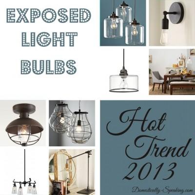 Exposed Light Bulbs ~ Trend Alert