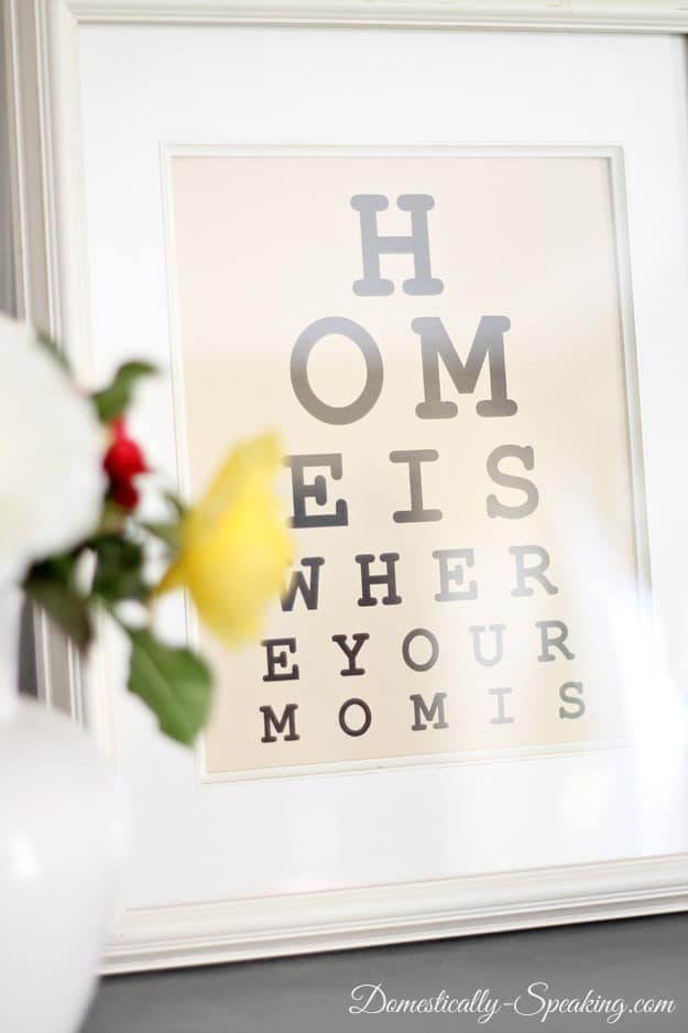 free, printable, Mother's Day, eye chart, gift