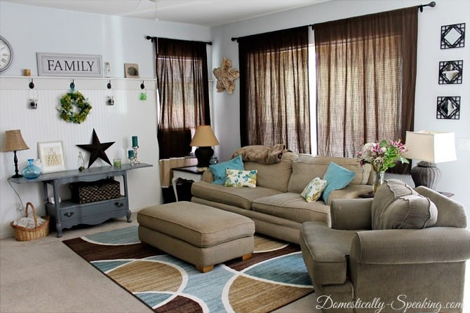 Living Room Refresh with BHG @ Domestically Speaking