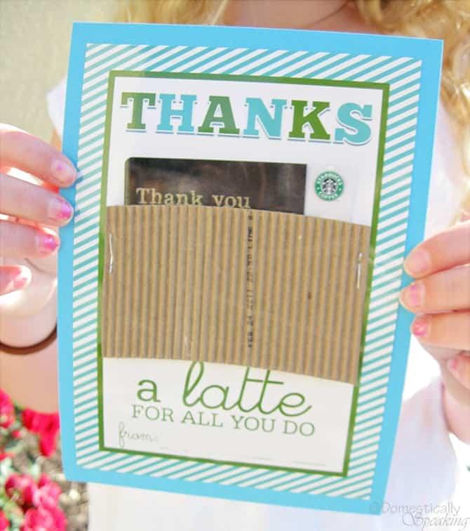 Thanks a Latte Teacher Appreciation