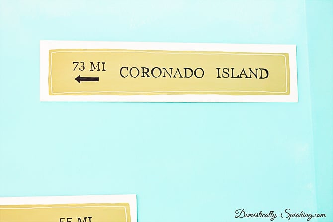 DIY Pottery Barn inspired Beach Signs - learn how to make your own with my tutorial!