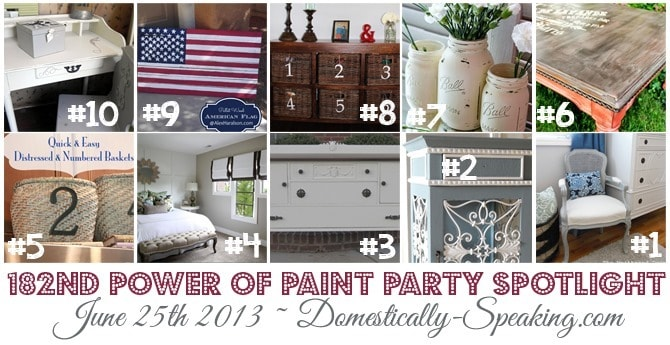 Power of Paint Party Spotlight @ Domestically Speaking