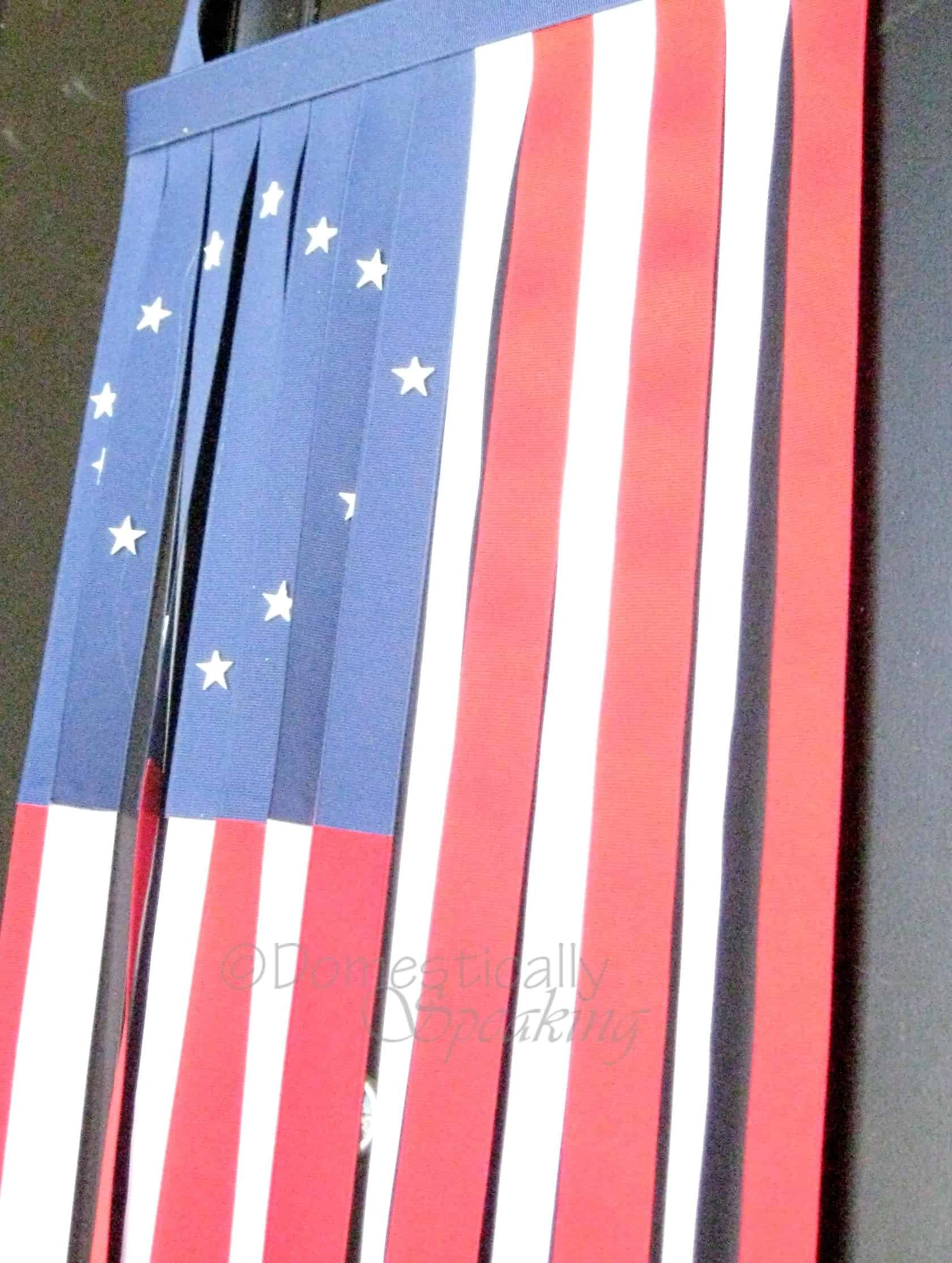 paint stick and ribbon flag: patriotic flag