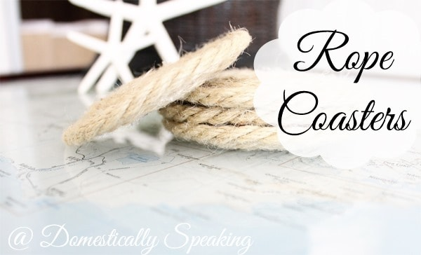 Domestically Speaking: How to Make Nautical Rope Coasters