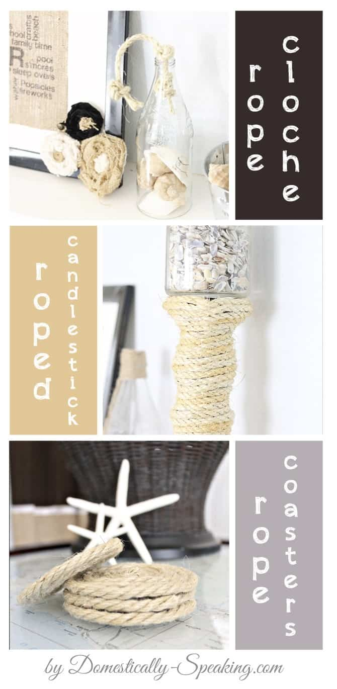Domestically Speaking: Summer Decor with Rope