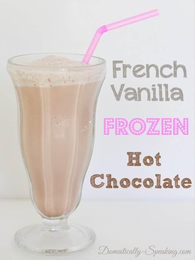 French Vanilla Frozen Hot Chocolate