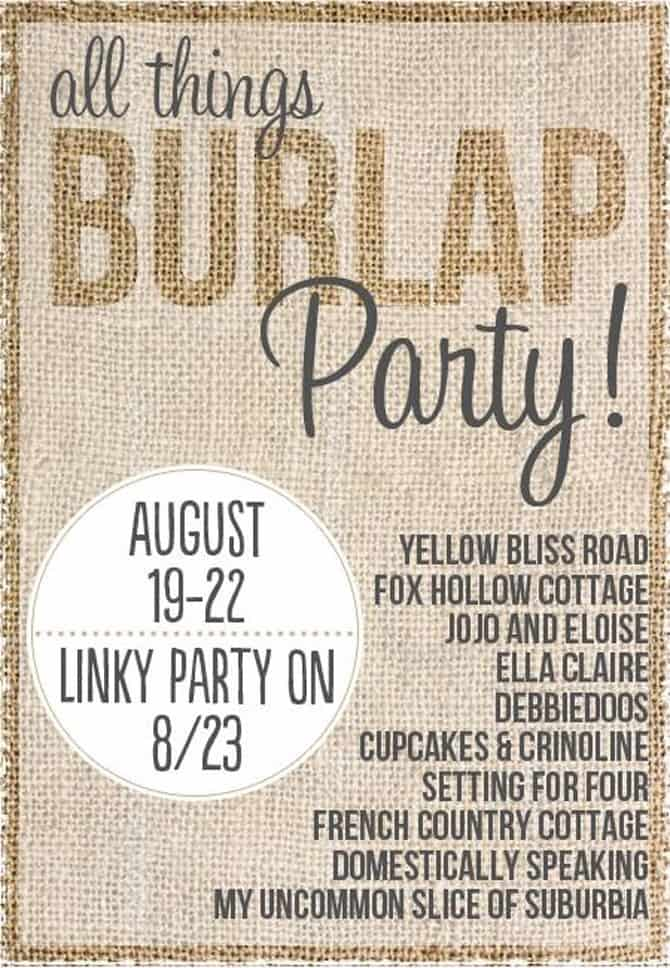 All things Burlap Party