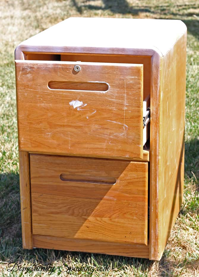 Striing a File Cabinet