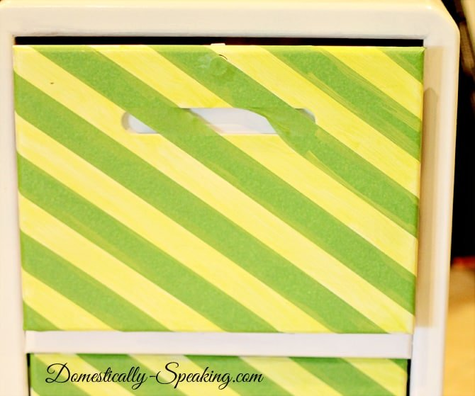 Frog Tape ~ Striping a File Cabinet