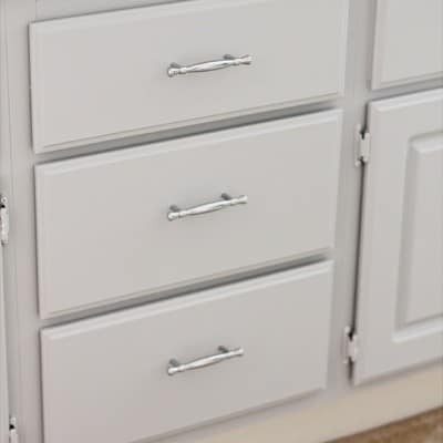 Cabinets archives domestically speaking for Adding hardware to kitchen cabinets