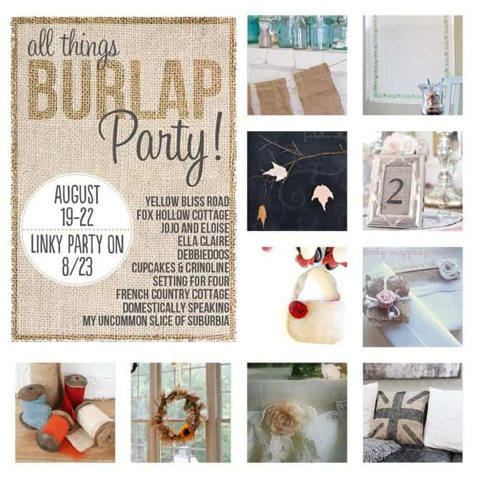 All Things Burlap Blog Hope and Linky Party