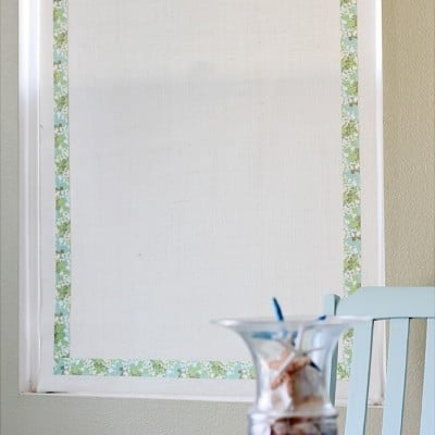Burlap Roller Shades ~ All About Burlap Blog Hop