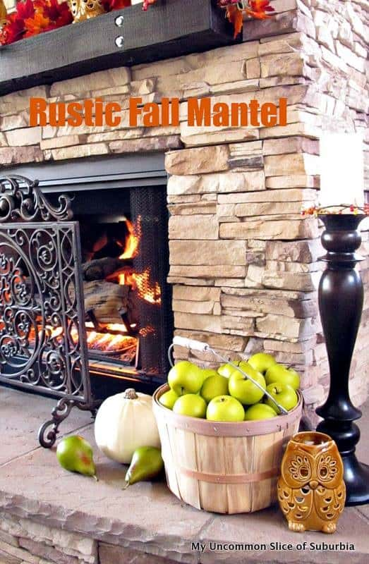 Rustic Fall Mantel @ My Uncommon Slice of Suburbia