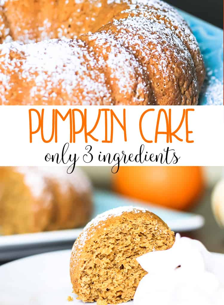 3 Ingredient Pumpkin Cake with Greek Yogurt