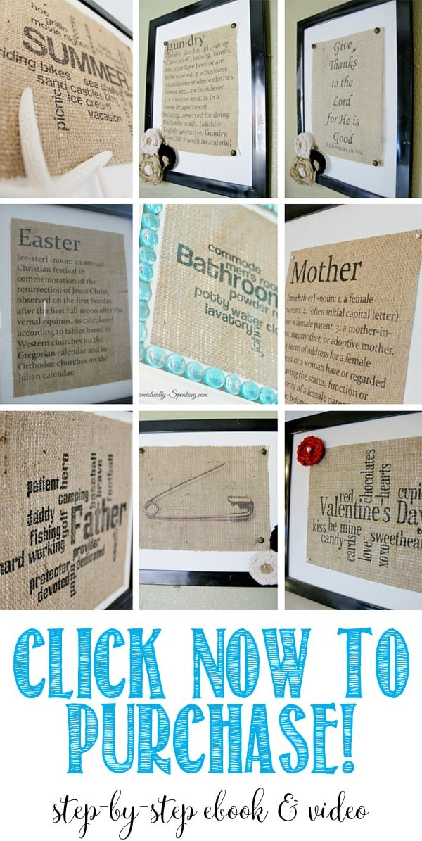 Ultimate How to Print on Burlap ebook and video package