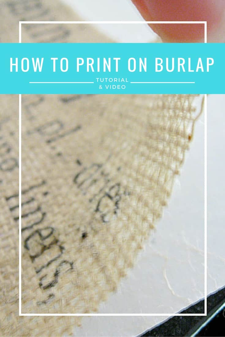 This is Great info!!!  If you want to learn how to make burlap signs check this Step by Step Tutorial with a video
