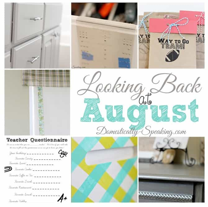 Looking Back at August