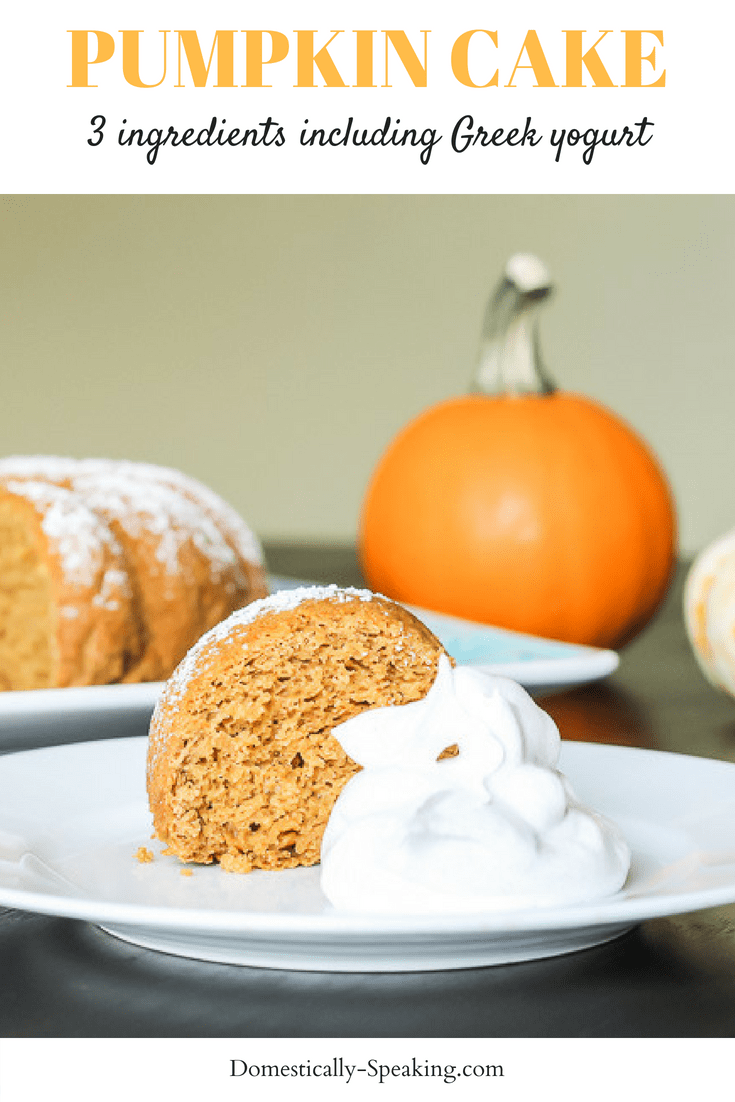 Pumpkin Cake with Greek yogurt - only 3 ingredients