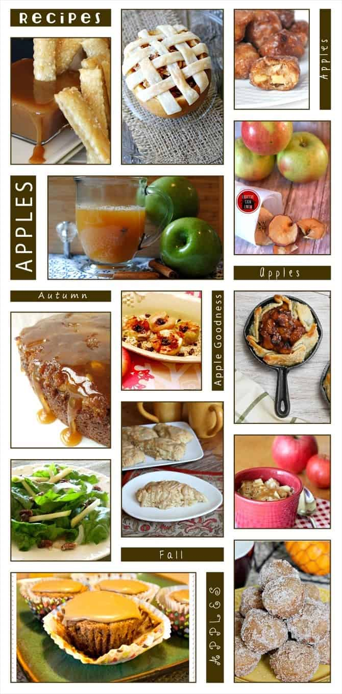 Lots of great apple recipes perfect for Fall