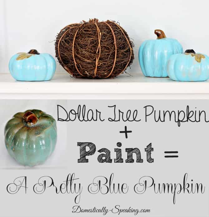 Little Blue Pumpkins - Dollar Tree painted up