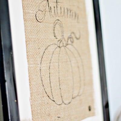 Burlap Autumn Pumpkin & Anniversary Winners!