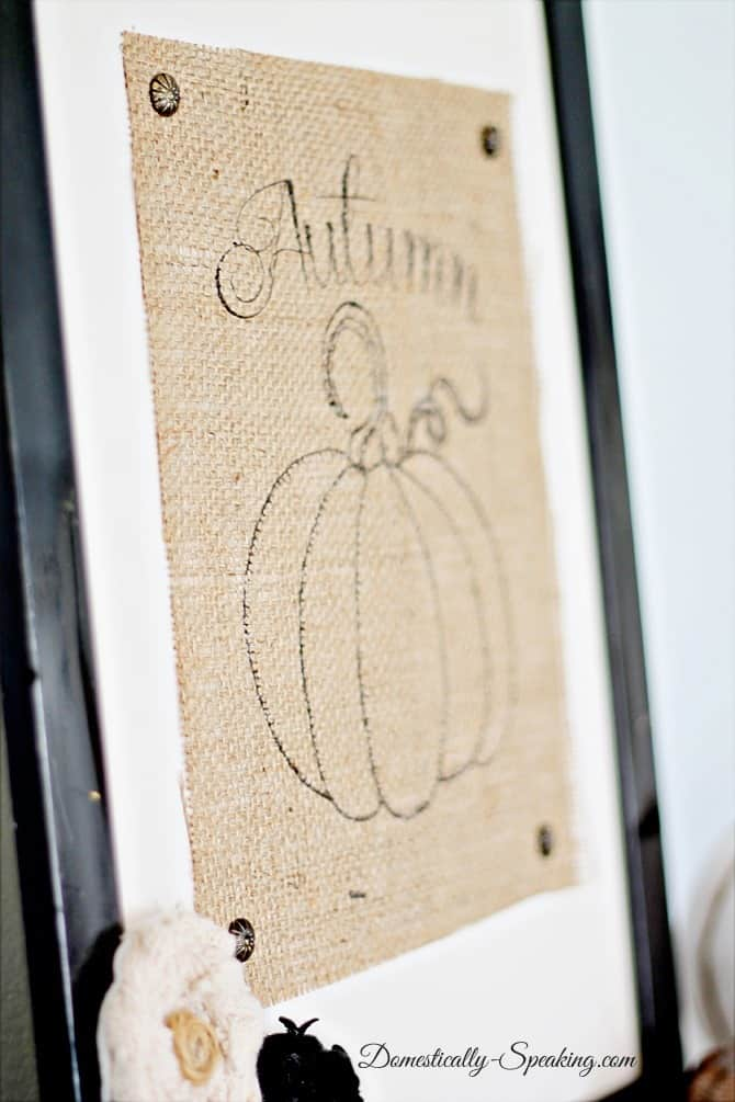 Autumn Burlap Pumpkin Sign