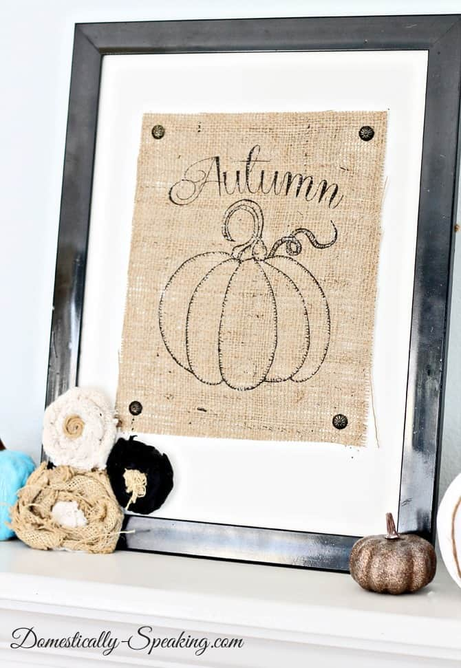 Autumn Burlap Pumpkin